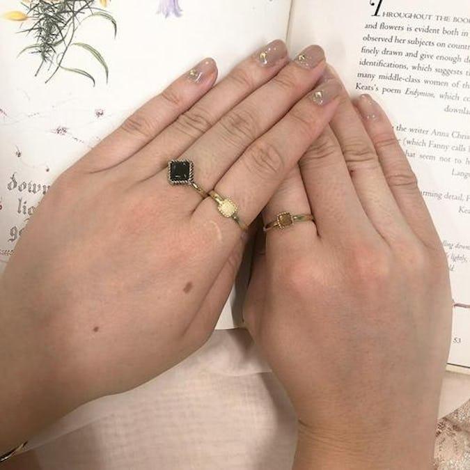 antique jewel ring set