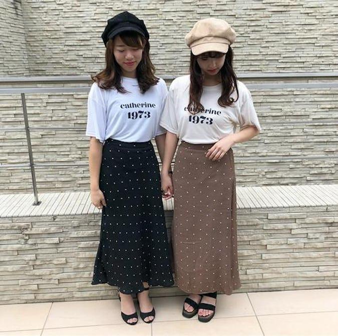 dot long skirts