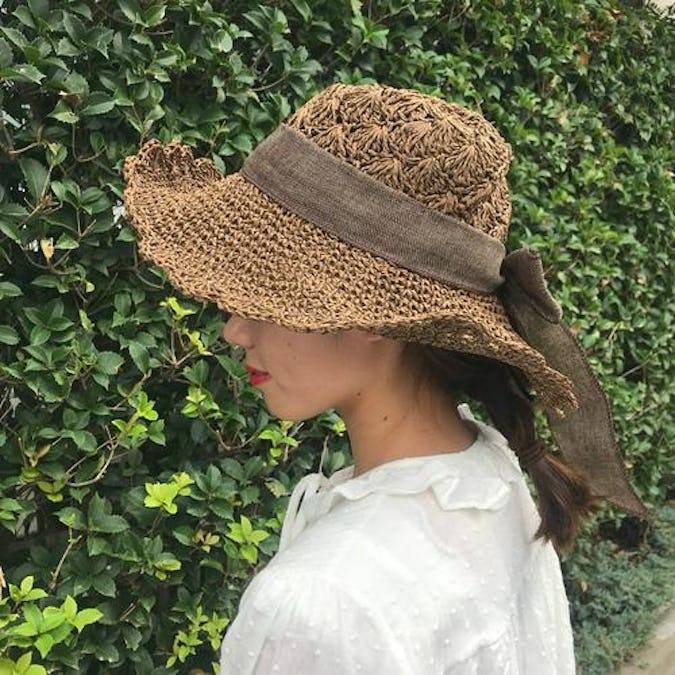 ribbon flower hat