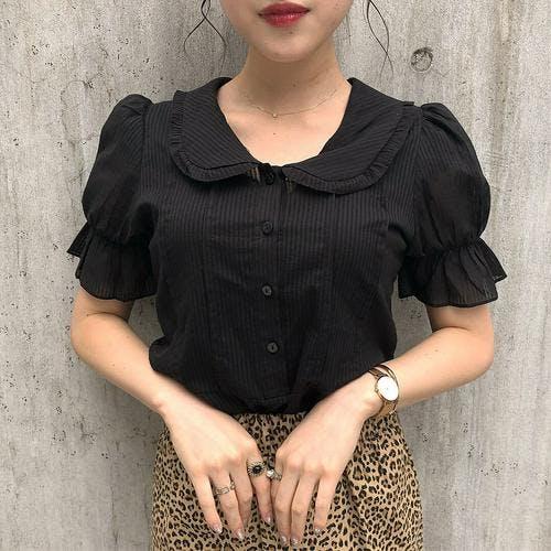 collar frill blouse-0