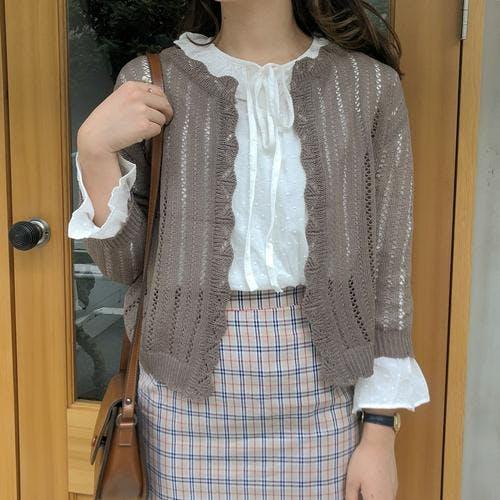lace knit bolero