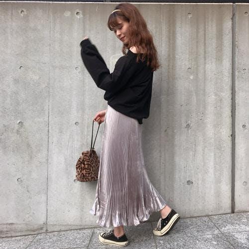 glitter long skirt-0