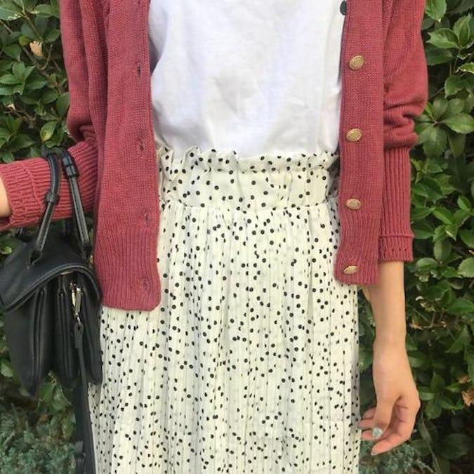 dot shirring skirts