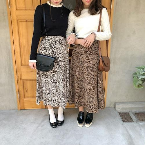 leopard long skirts-0