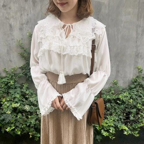 frill tassel blouse-0