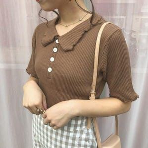 shirring kara knit  T