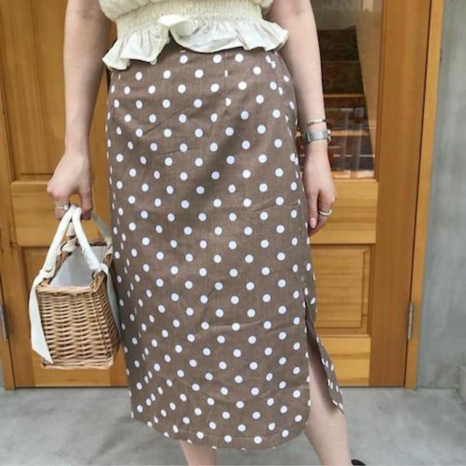 cotton dot skirts-0