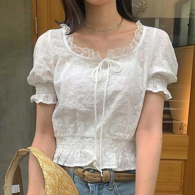 lamp lace blouse-0
