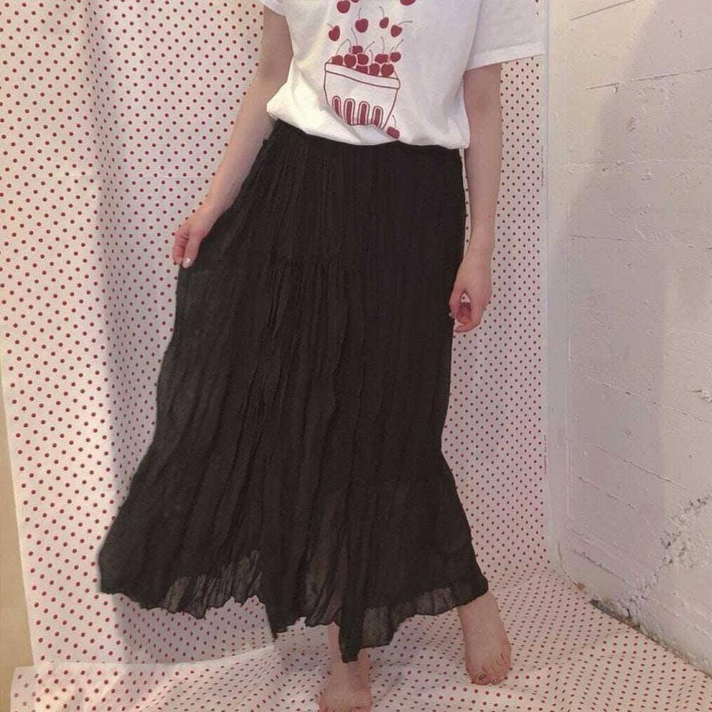 black long skirt-0