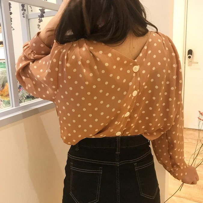 elegance dot blouse