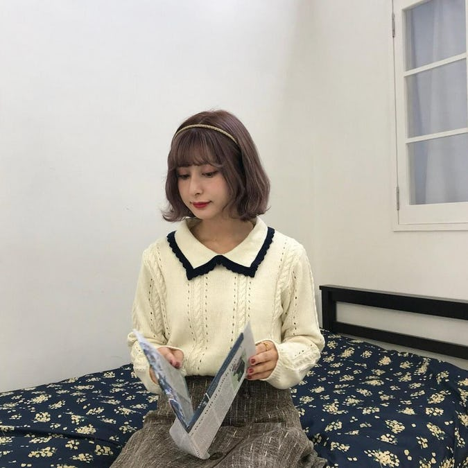 bi-color knit