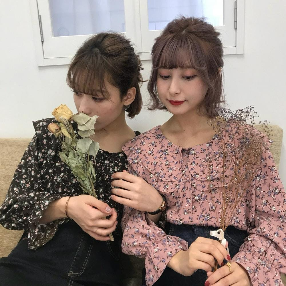 sailor flower blouse