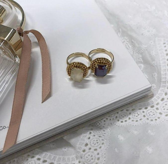 antique big jewel ring set