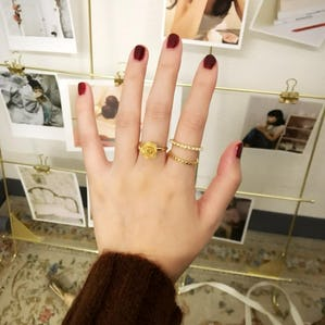 rose pearl ring set