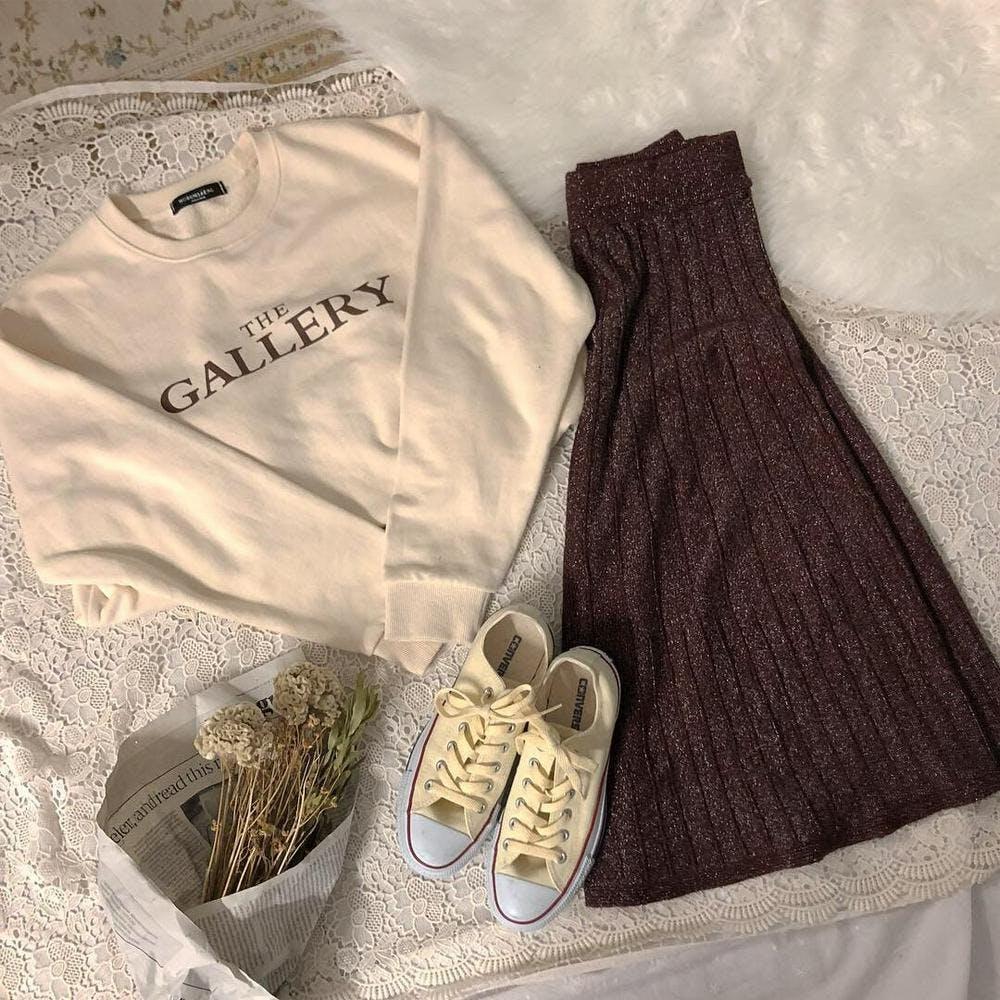 kirakira knit skirts