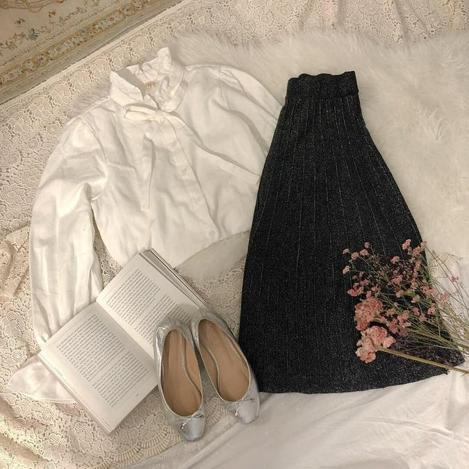 kirakira knit skirts