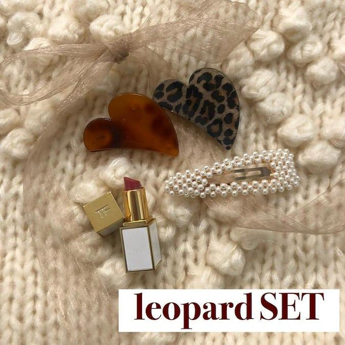 mini heart barretta set