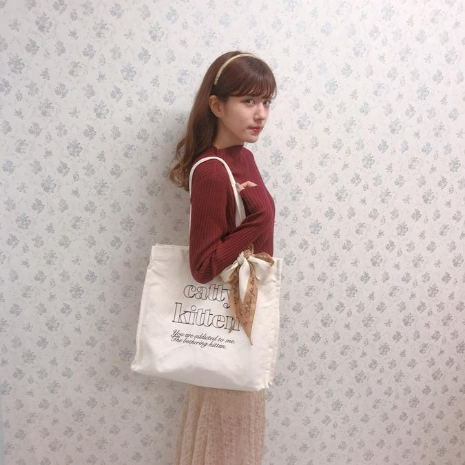 【6/20~順次発送】catty square bag