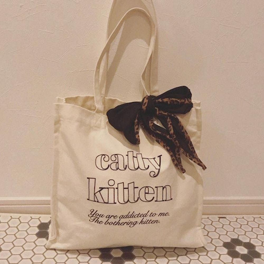 【5/29~順次発送】catty square bag