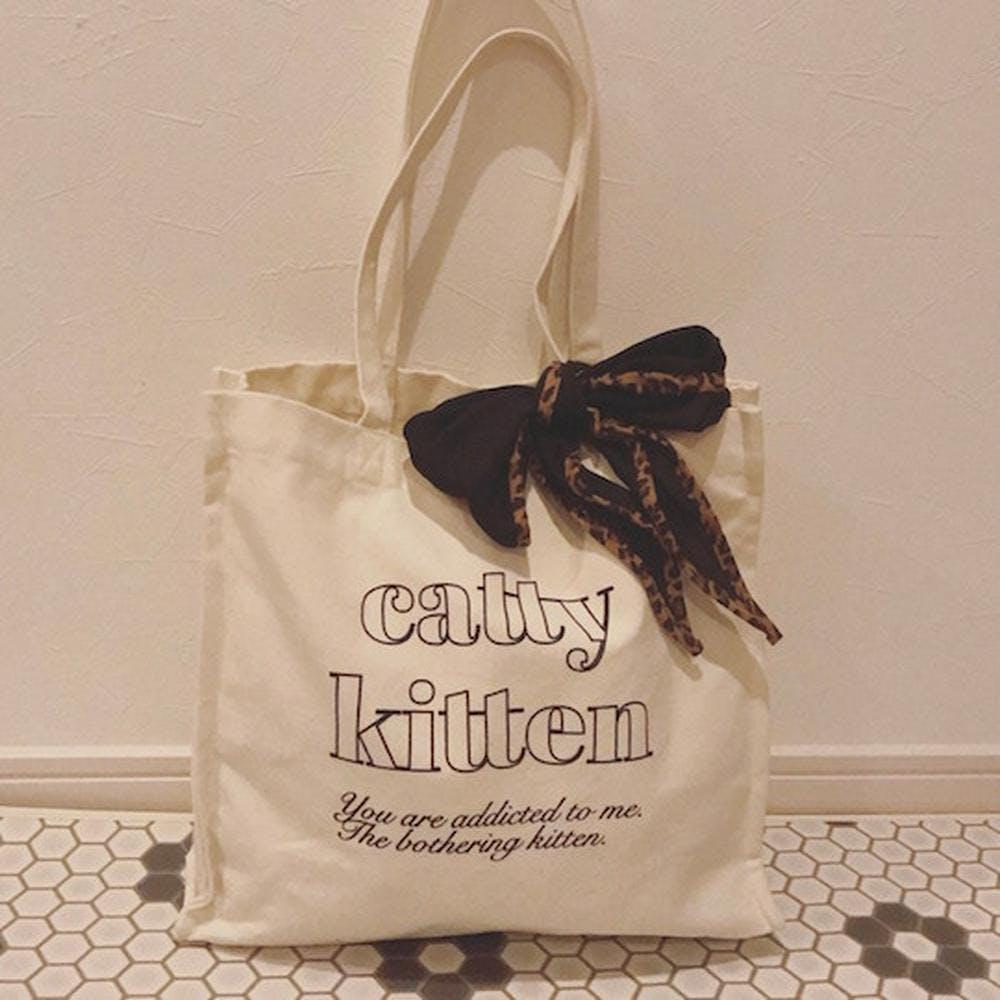 【5/29~順次発送】catty square bag