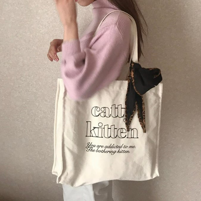 catty kitten square bag