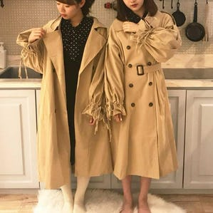 ribbon trench coat