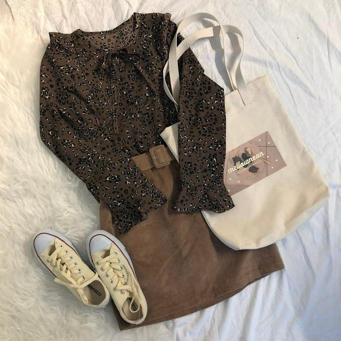 brown leopard blouse