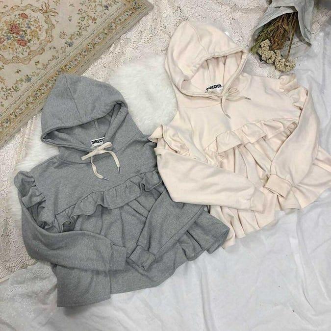 frill hood sweater-0