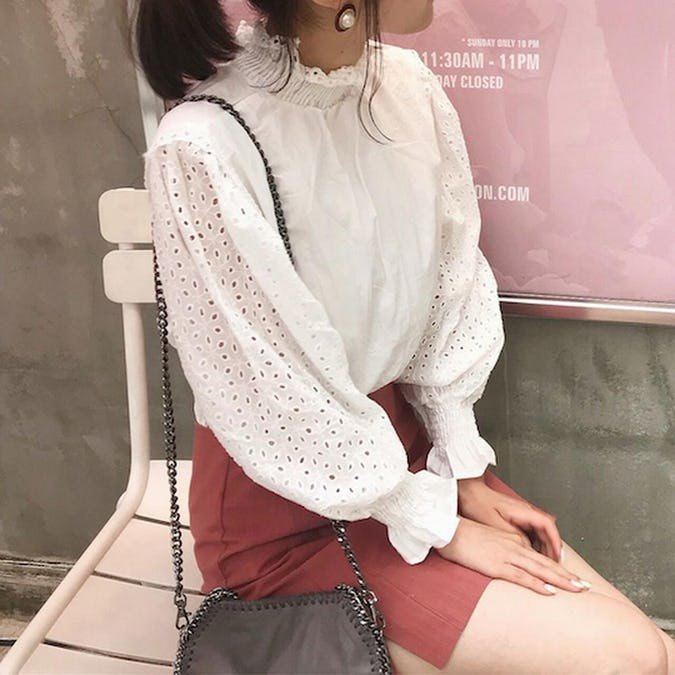 white cotton blouse-0