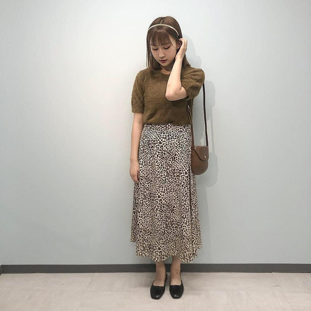 leopard long skirts