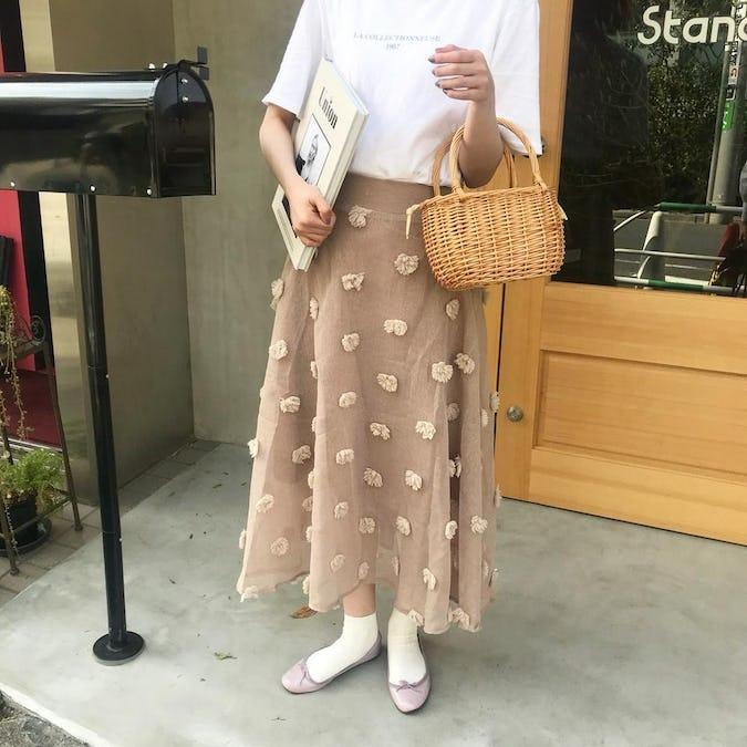 ponpon skirt