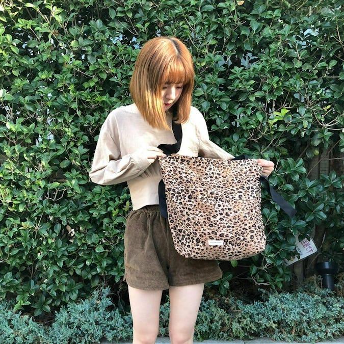 leopard pouch bag
