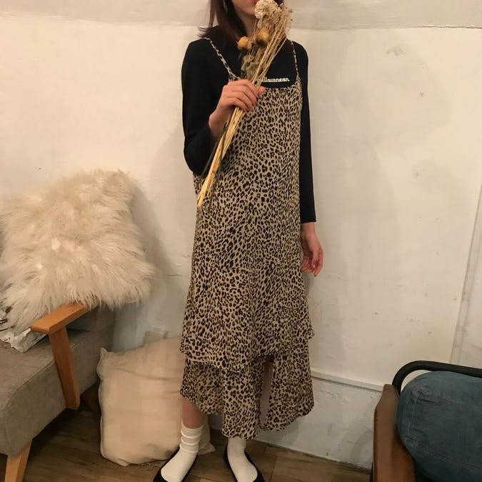 leopard cami op