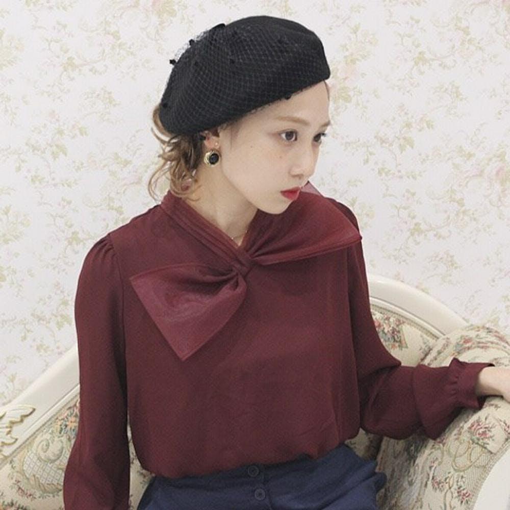 vintage beret-0