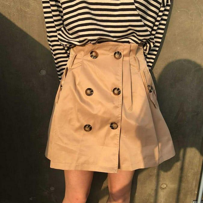 2 button ribbbon skirt-0