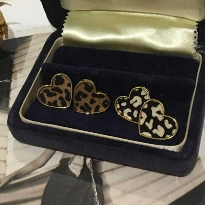 heart leopard pierce-0