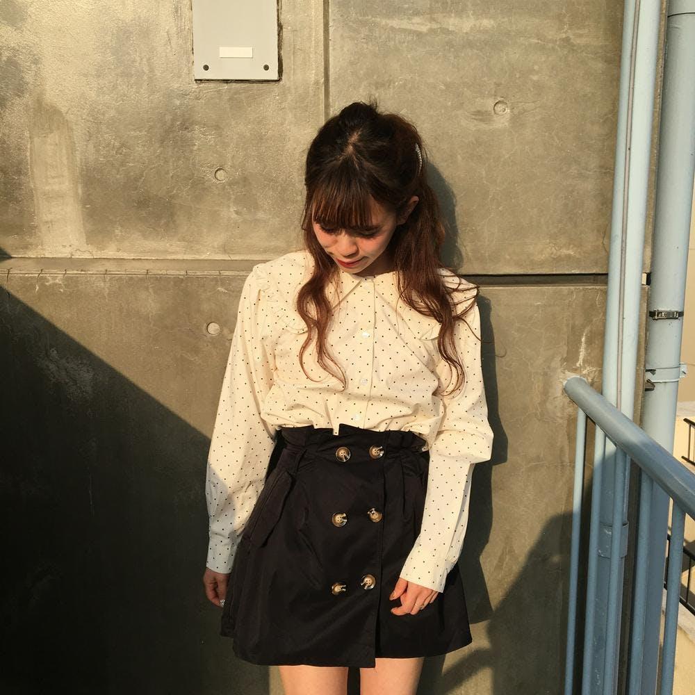 2 button ribbbon skirt