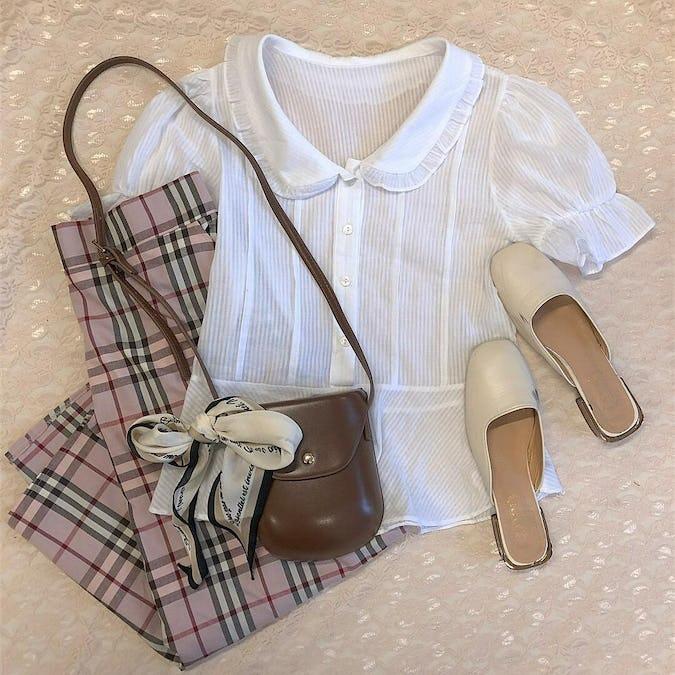 gingham long skirts