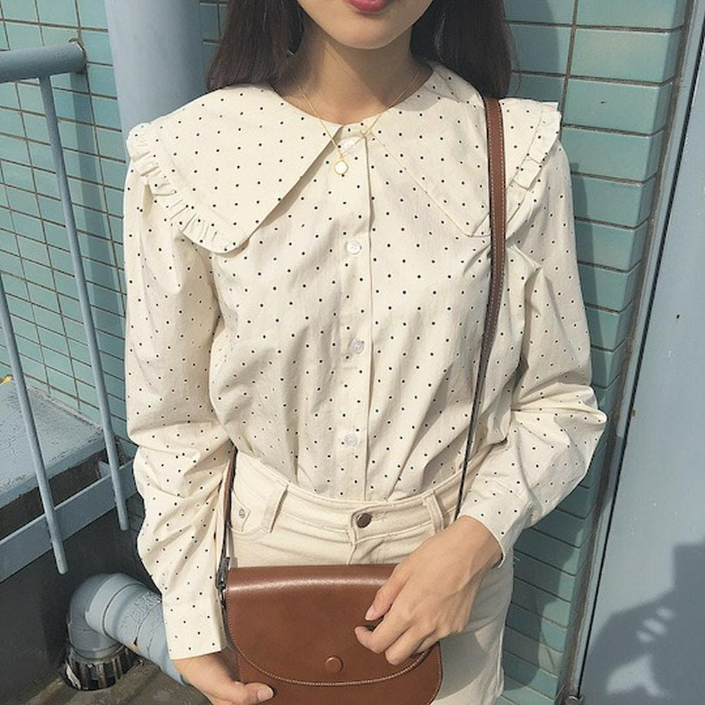 【5/21~順次発送】girly dot blouse