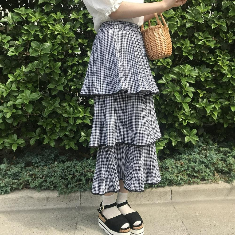 mermaid gingham skirt
