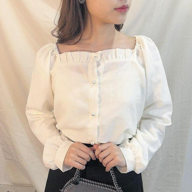square neck blouse