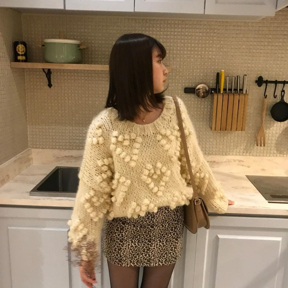 heart bell knit