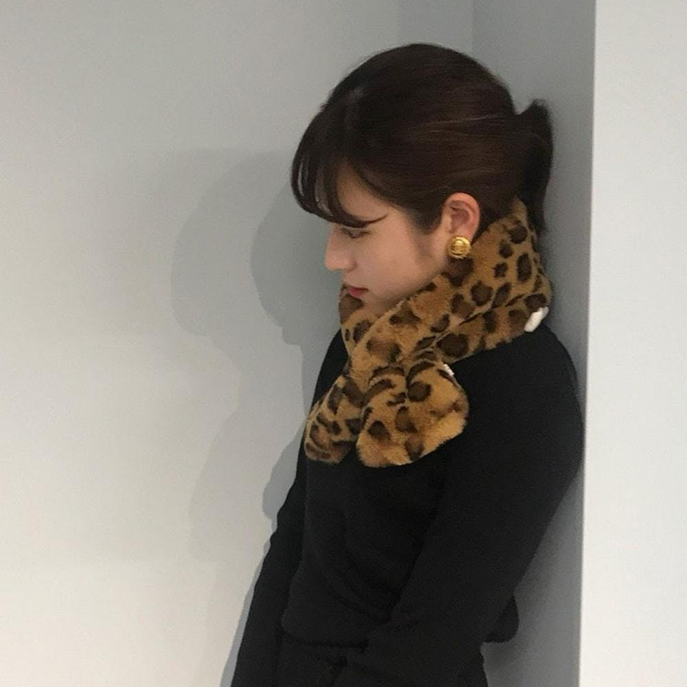 leopard fur muffler-0