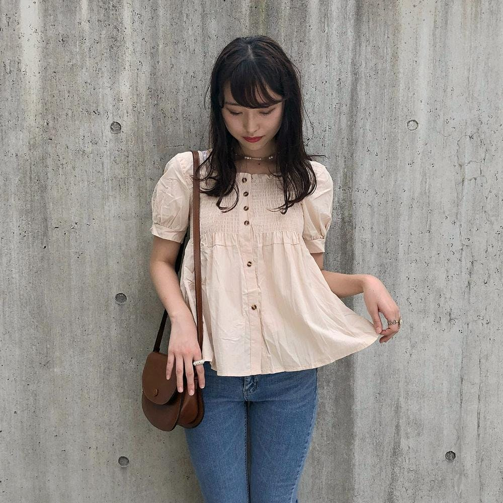 cutie square neck blouse