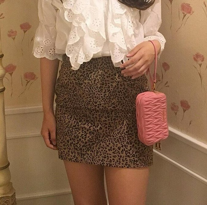leopard mini skirt-0
