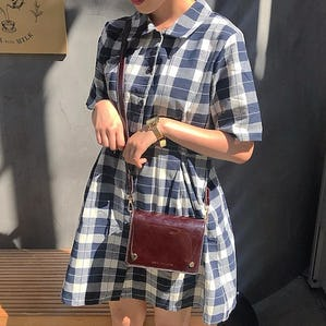 gingham mini op