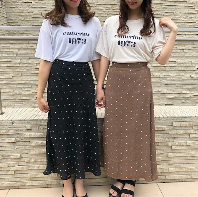 dot long skirts-0