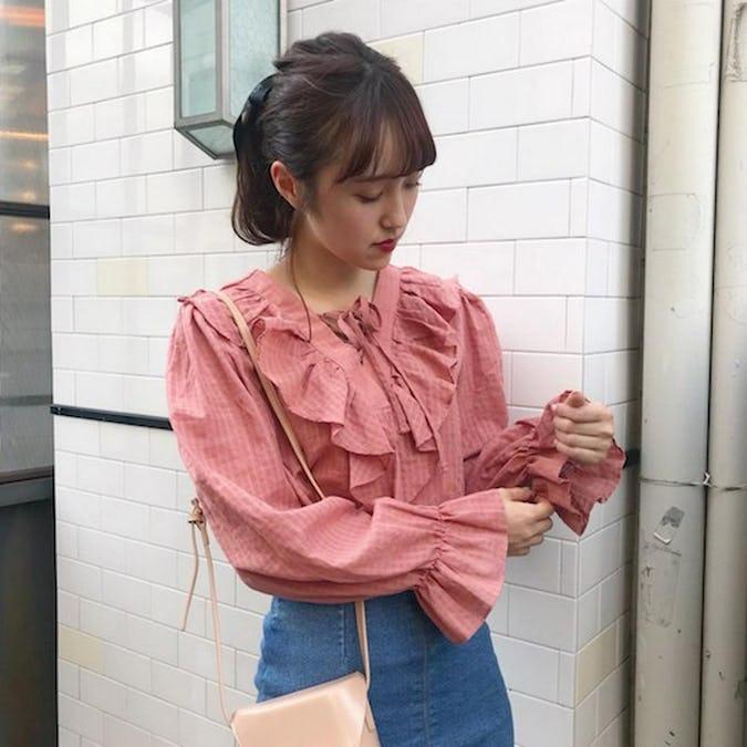 v frill blouse-0