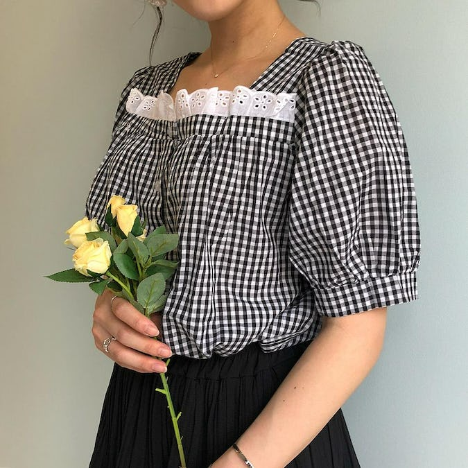 square gingham shirts