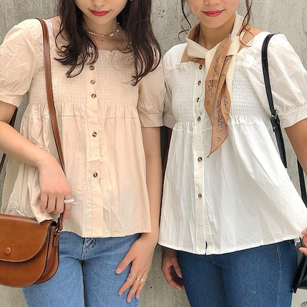 cutie square neck blouse-0